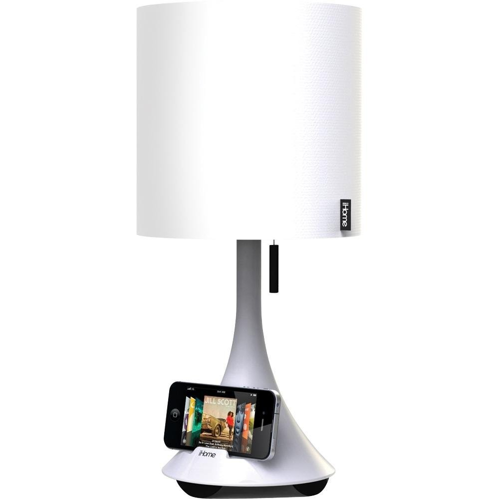 ihome night stand lamp w speaker stand for ipad iphone. Black Bedroom Furniture Sets. Home Design Ideas
