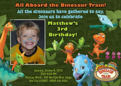 Dinosaur T-Rex Birthday Invitation | eBay