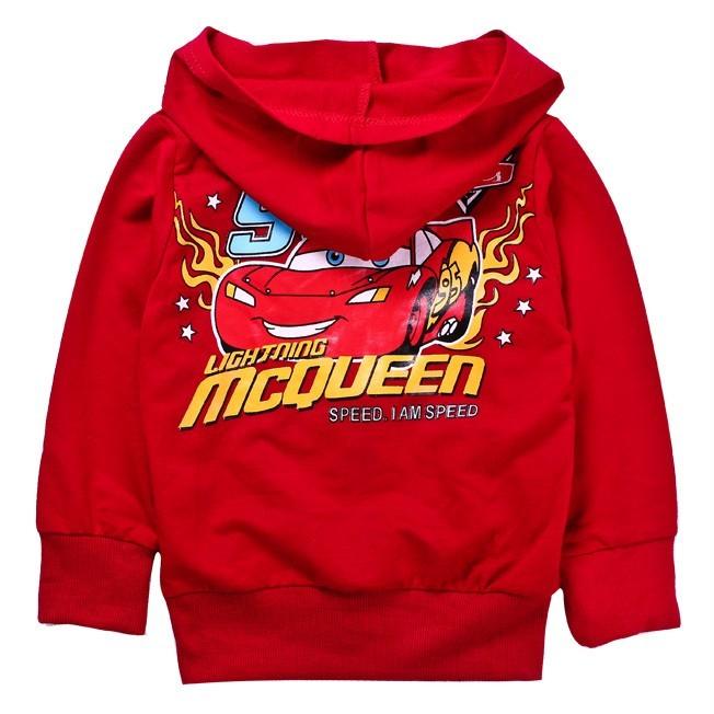 Cars Lightning McQueen Kids Coat Boys Girls Front Zip Cool Hoodies 3 4