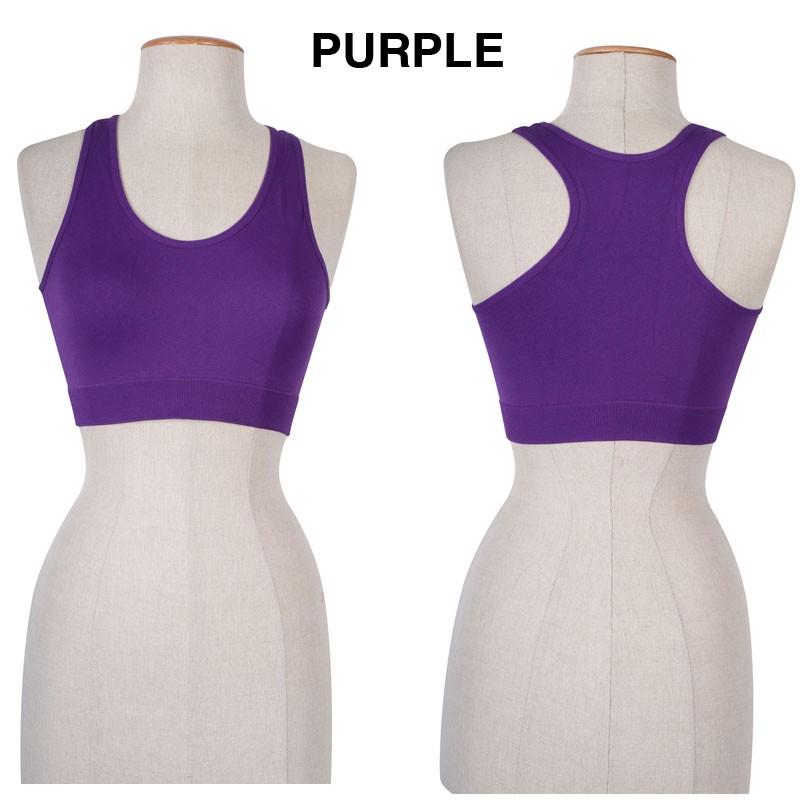Women basic seamless fitness yoga sports bra racerback for Racerback t shirt bra