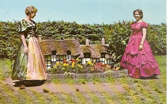 PEI Prince Edward Island ~ Hostesses - Model of Anne Hathaway's Cottage at Woodleigh Replicas near KENSINGTON