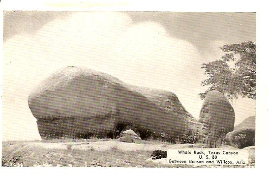 (2) AZ Arizona ~ Whale Rock - Dinosaur Rock, Texas Canyon, U.S. 80 between BENSON and WILLCOX - Printed PCs