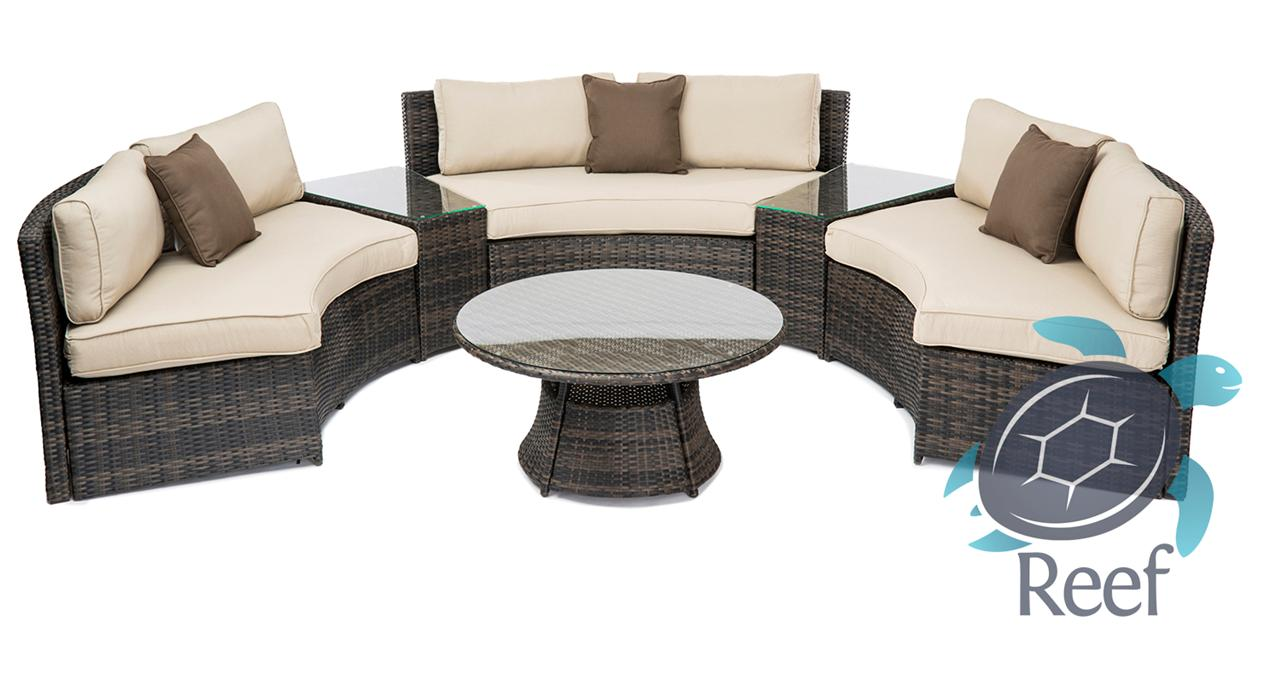 Curved Patio Sofa Contempo Curved Sectional Sofa By Lloyd Flanders Furniture For Patio 6 Seat