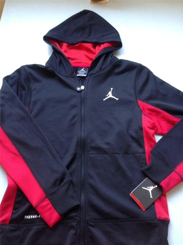 nike boy air jordan hoodie jumper fleece zip sweater. Black Bedroom Furniture Sets. Home Design Ideas