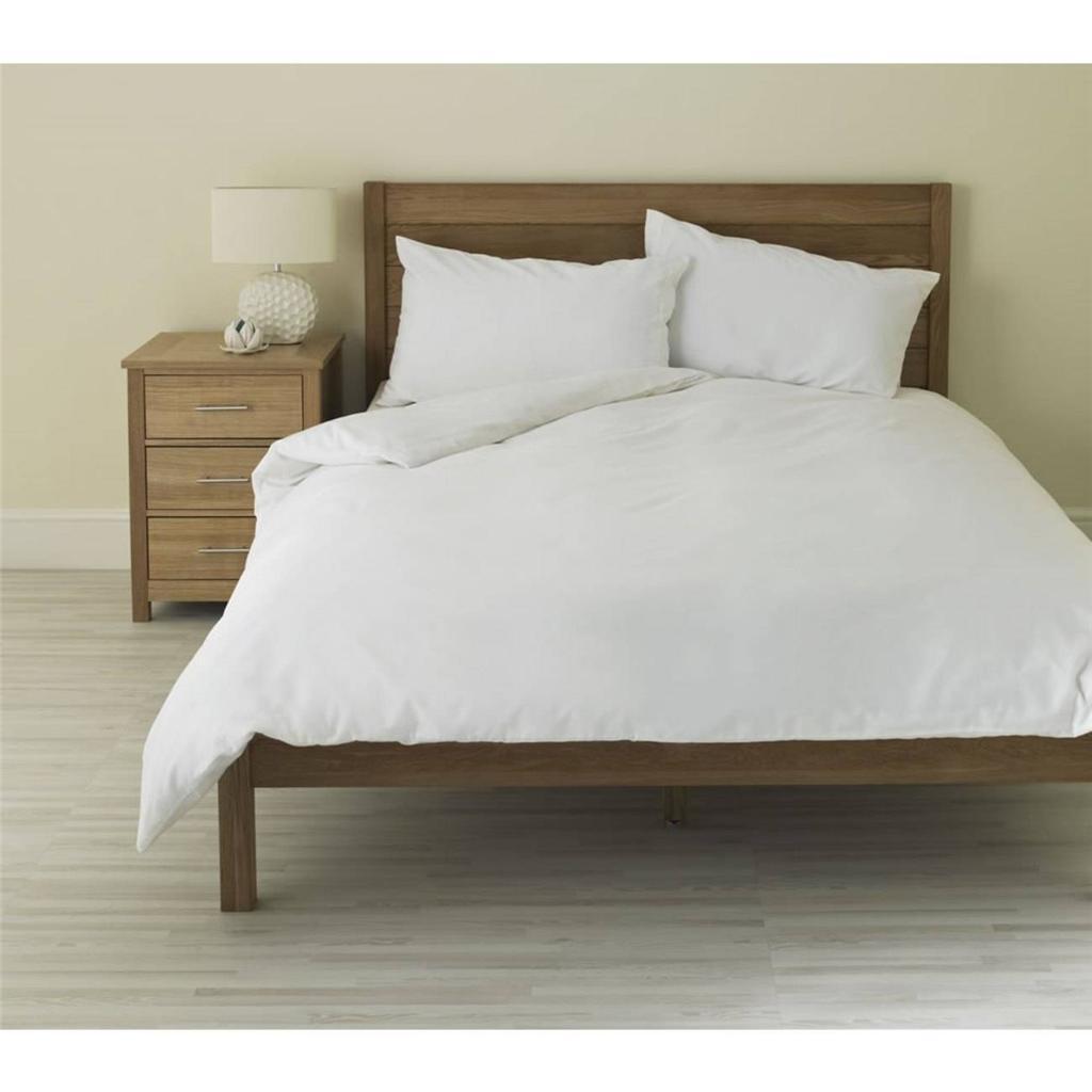 Plain White Duvet Quilt Cover Set With Pillow Cases Single