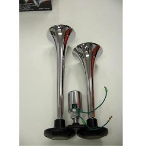 2 klang fanfare druckluft horn hupe sirene lkw 12v 24v pkw. Black Bedroom Furniture Sets. Home Design Ideas