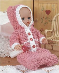 Knitting Patterns For Dolls Houses : 624 - THE DOLLS HOUSE KNITTING PATTERN BOOKLET - DK & 4 PLY - HEIGHT 12&q...