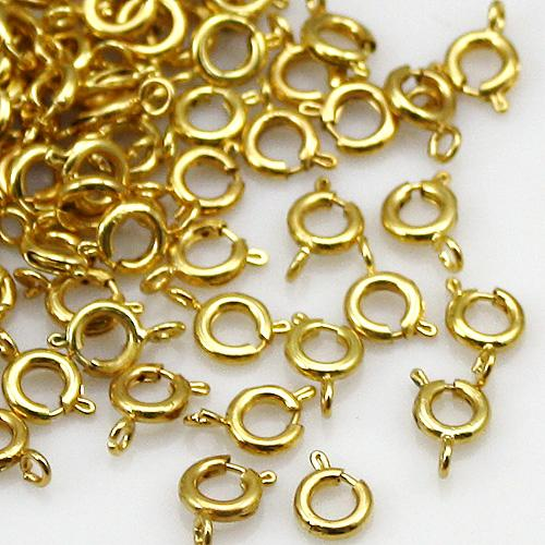 6mm gold silver plated bolt ring clasps jewelry findings