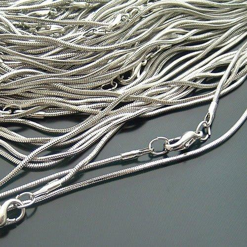 """16""""(40cm) Silver/Gold Plated Round Snake Chain Necklaces Chains Jewellery Making"""