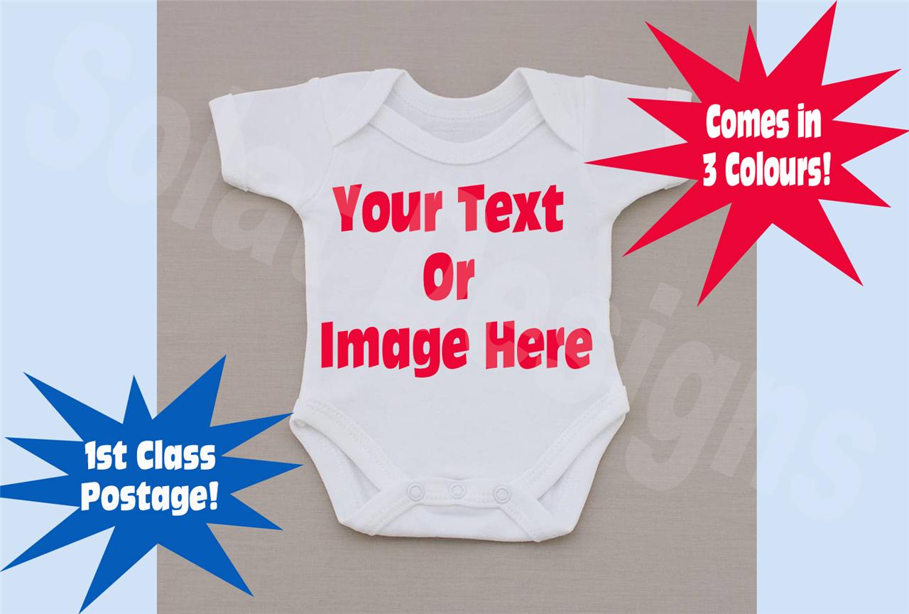 Custom-Printed-Personalised-Baby-Grow-Vest-Suit-Boy-Girl-Newborn-Gift-Any-Event