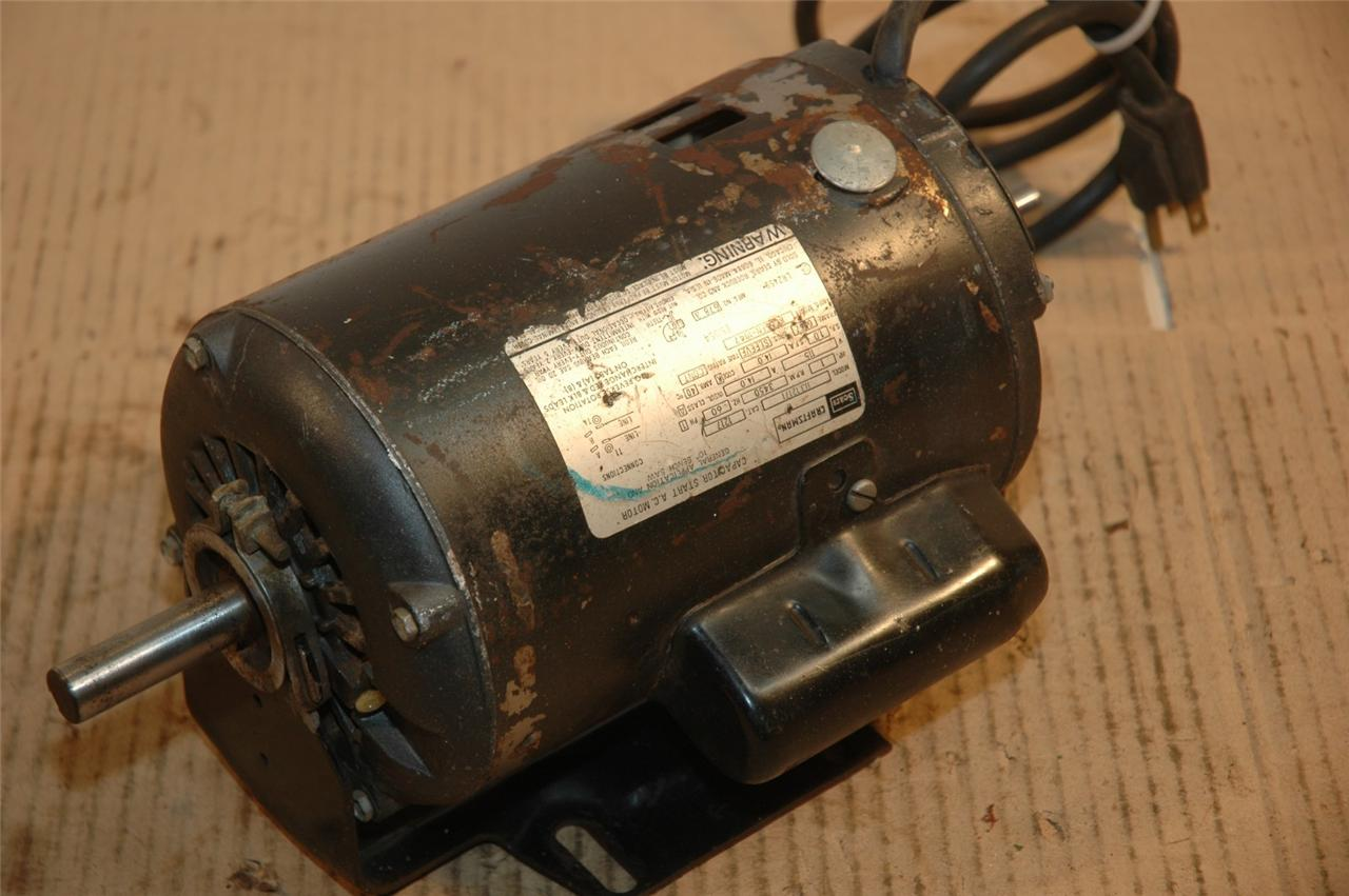 Craftsman 1 H P Table Saw Motor Dual Shaft Model Ebay