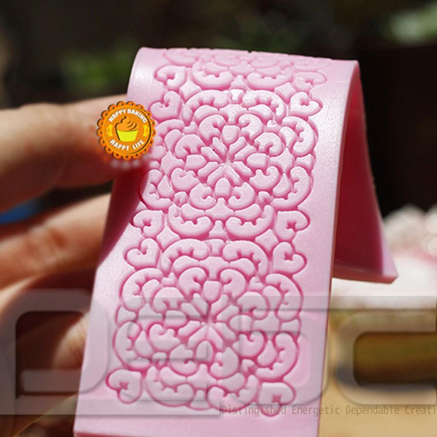 Lace Shaped Silicone Mold Mould Fondant Cake Decoration ...