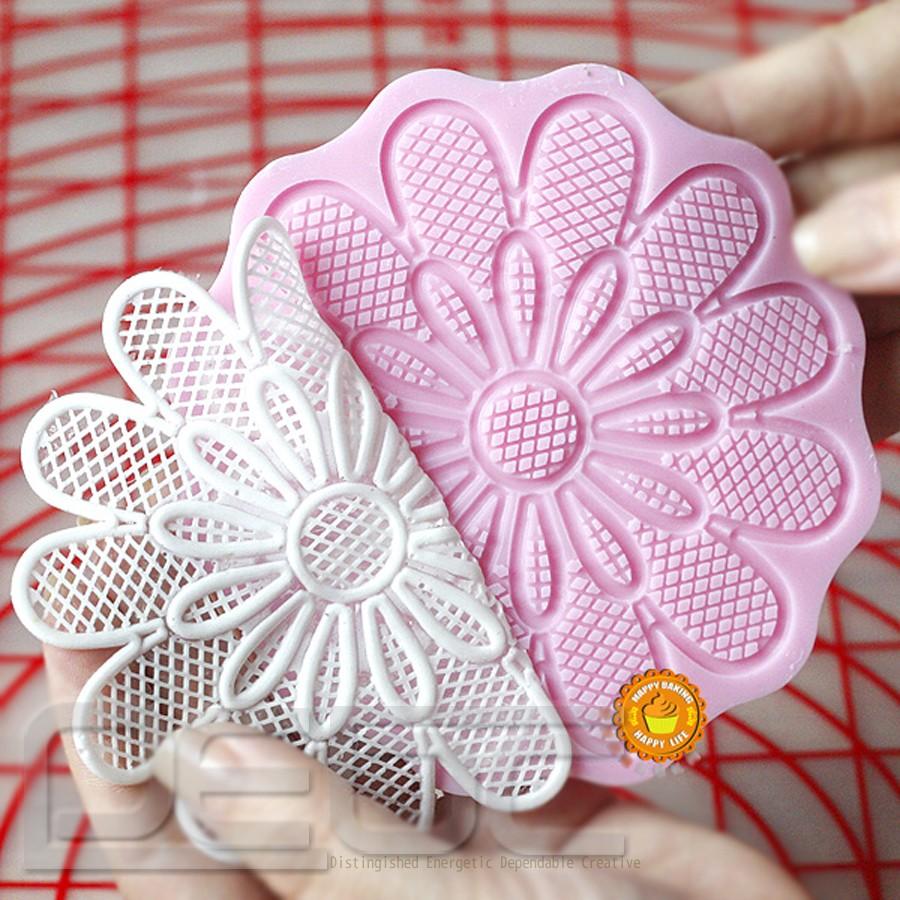Cake Decorating Lace Molds Uk : Lace Shaped Silicone Mold Mould Fondant Cake Decoration ...