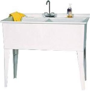 Heavy Duty Utility Sink : Details about ASB Heavey Duty Double Tub Utility / Laundry Tub With ...