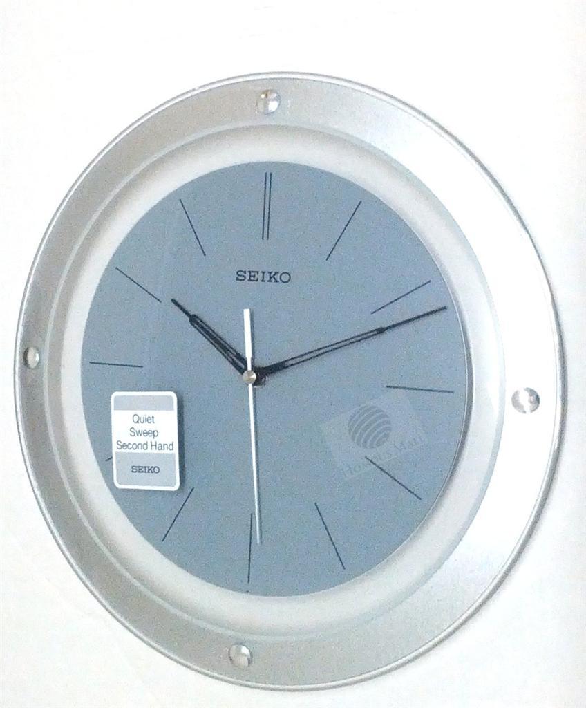seiko 30cm round wall clock qxa143b quiet sweep second