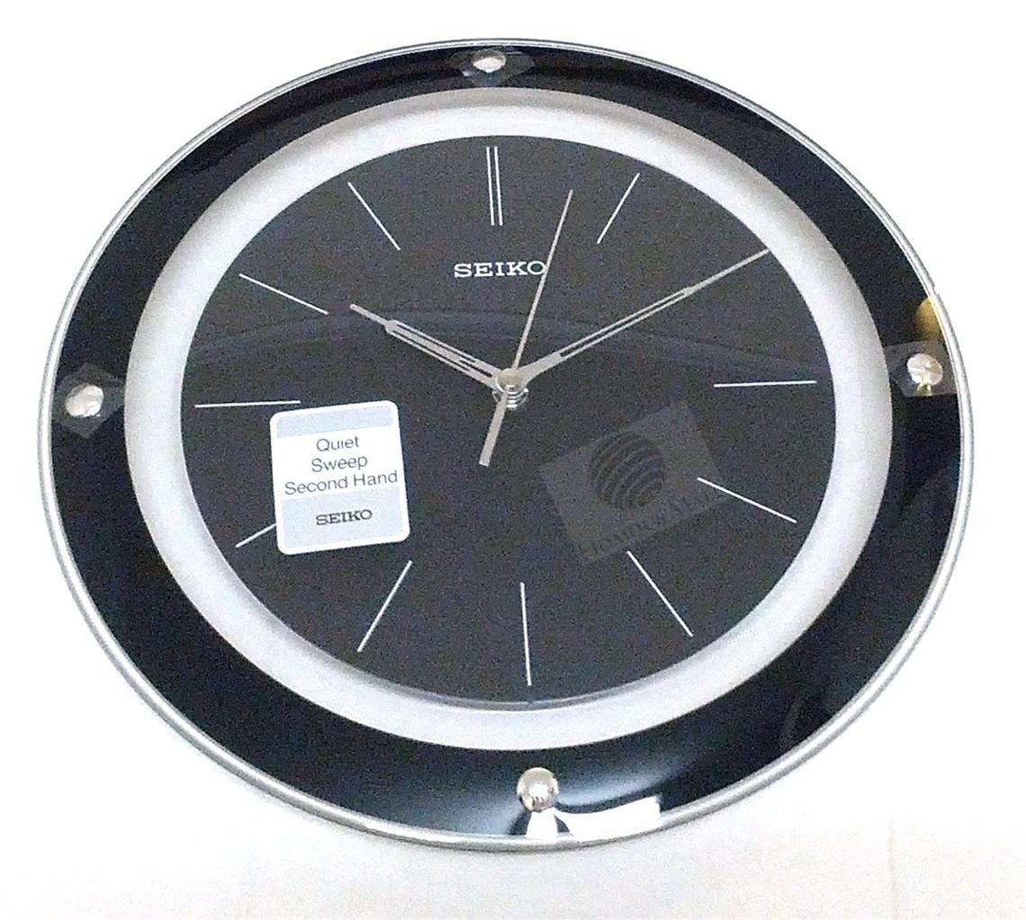 seiko 30cm round wall clock qxa143b quiet sweep second hand roman