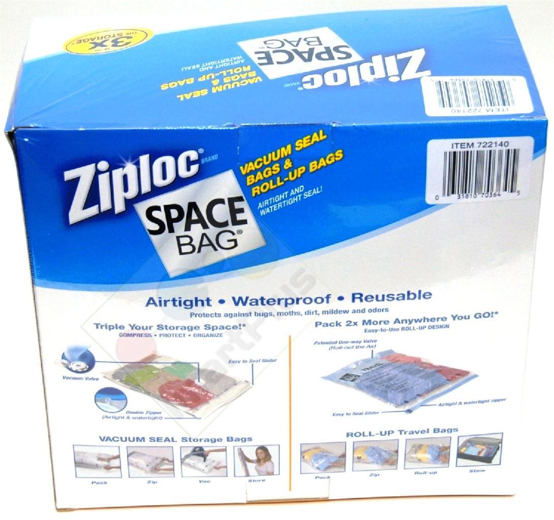 15 original ziploc space saver vacuum storage bag set. Black Bedroom Furniture Sets. Home Design Ideas