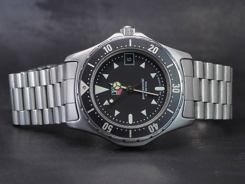 Tag heuer 1500 mens professional 200m divers watch black 37mm ebay for Tag heuer divers watch