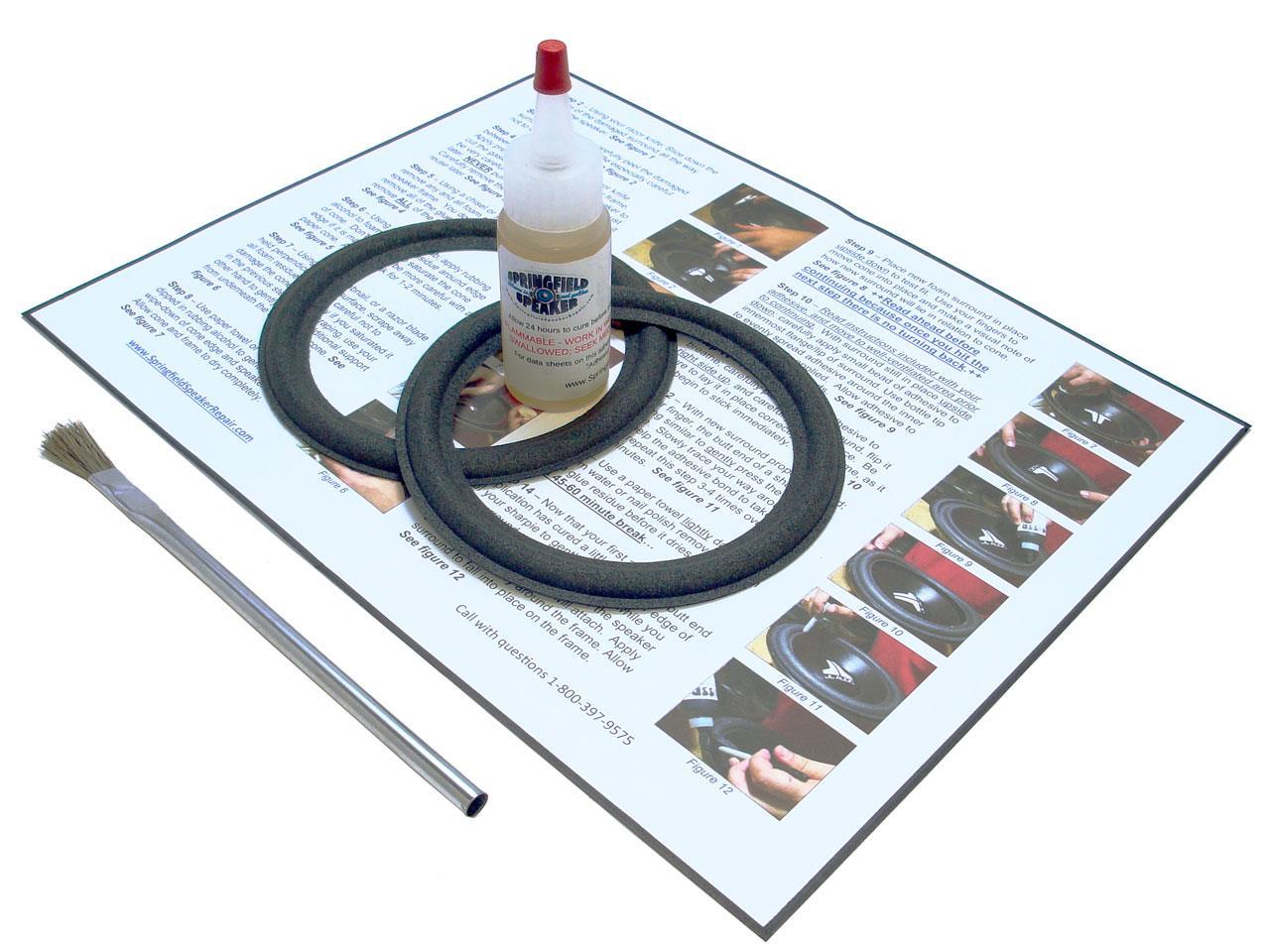 speaker surround repair instructions