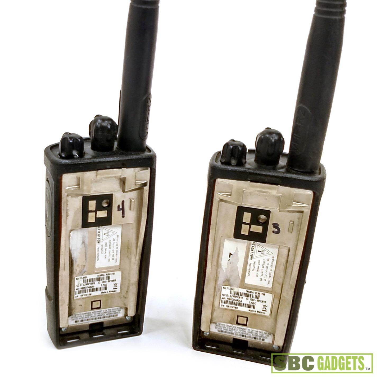 pair of motorola cp110 two way radio for parts and repair. Black Bedroom Furniture Sets. Home Design Ideas