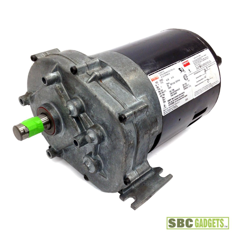 Dayton 1 4 Hp 6 Rpm 115v Ac Shaft Gearmotor Mod 5k933d