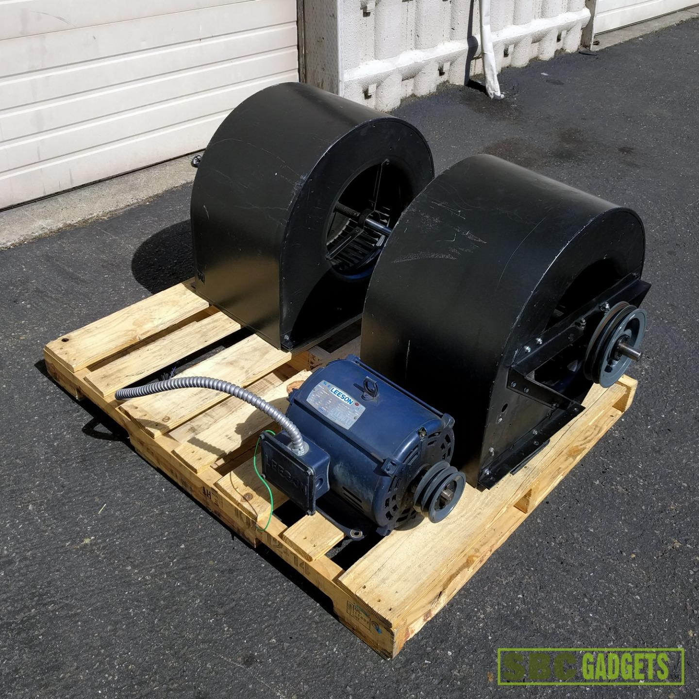 Industrial Blower Motor : Industrial double inlet centrifugal fan blower with motor