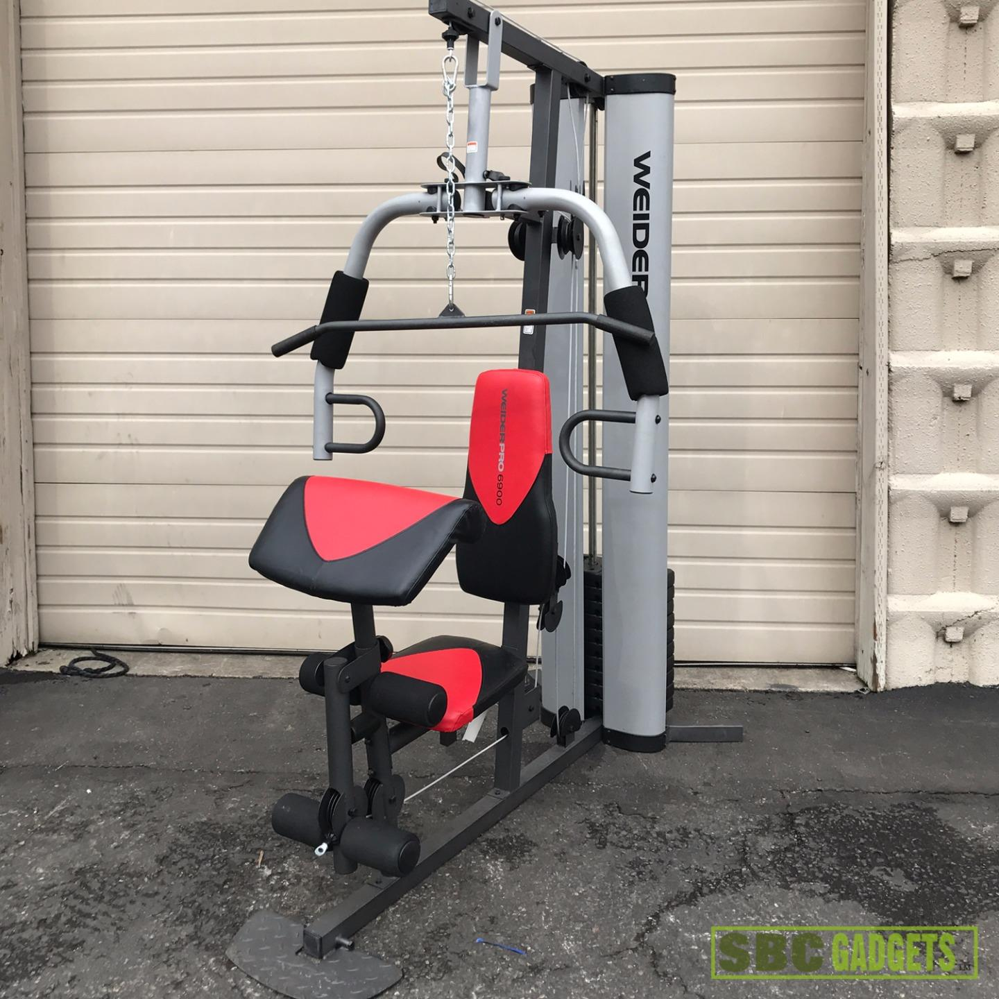 Weider Home Gym Instructions: Weider Pro 6900 Workout Fitness Exercise Total Body Home