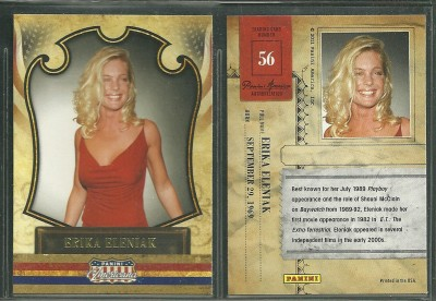 ERIKA ELENIAK RC ROOKIE CARD 2011 Panini Americana #56 Actor Baywatch