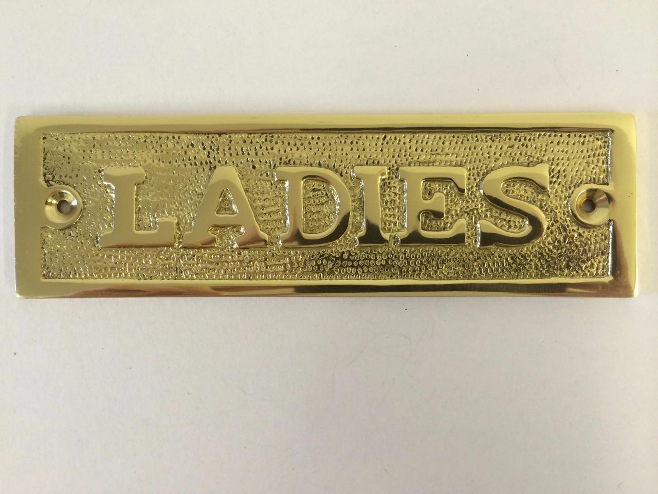 Bathroom Stall Screws gentlemen ladies toilet bathroom door sign plaque screws brass