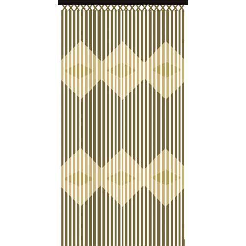 wooden bamboo beaded curtain 90 180cm patterned fly screen