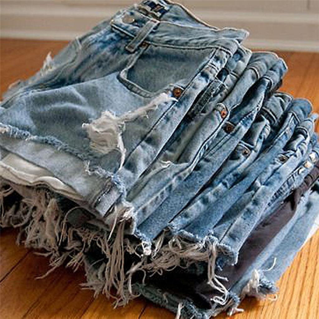 Сделать шорты с бахромой из джинс