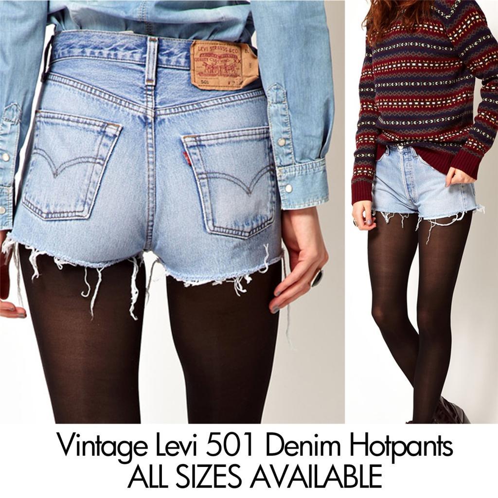 vintage levi denim shorts highwaisted hotpants 501s 6 8 10. Black Bedroom Furniture Sets. Home Design Ideas