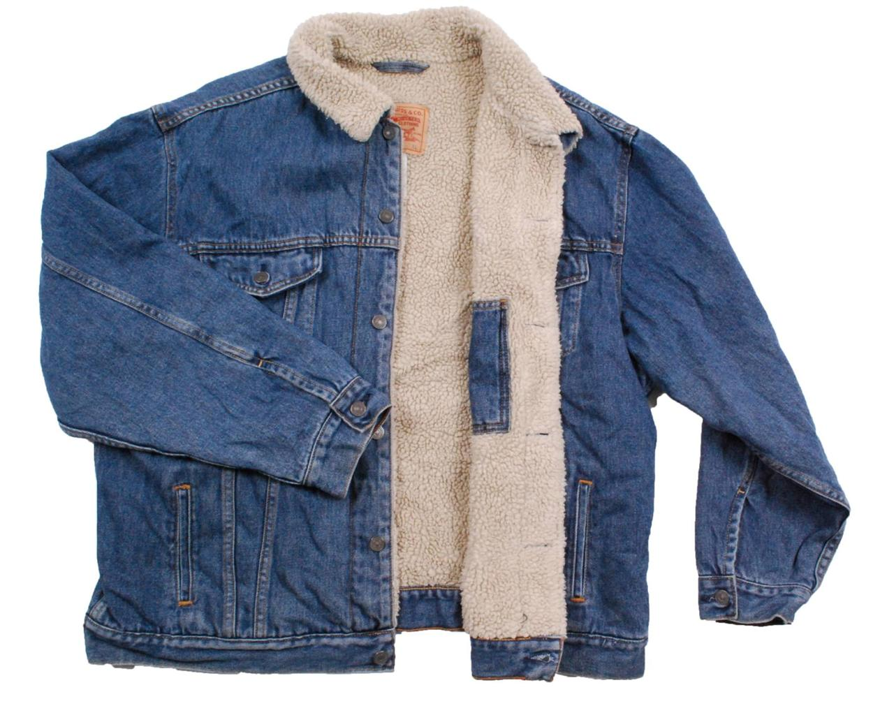 Comments about Wrangler Rugged Wear® Flannel Lined Denim Jacket Antique Navy: Love this jacket. I wear a medium shirt but I needed something to wear over a flannel shirt so the large size fits perfect.5/5(39).