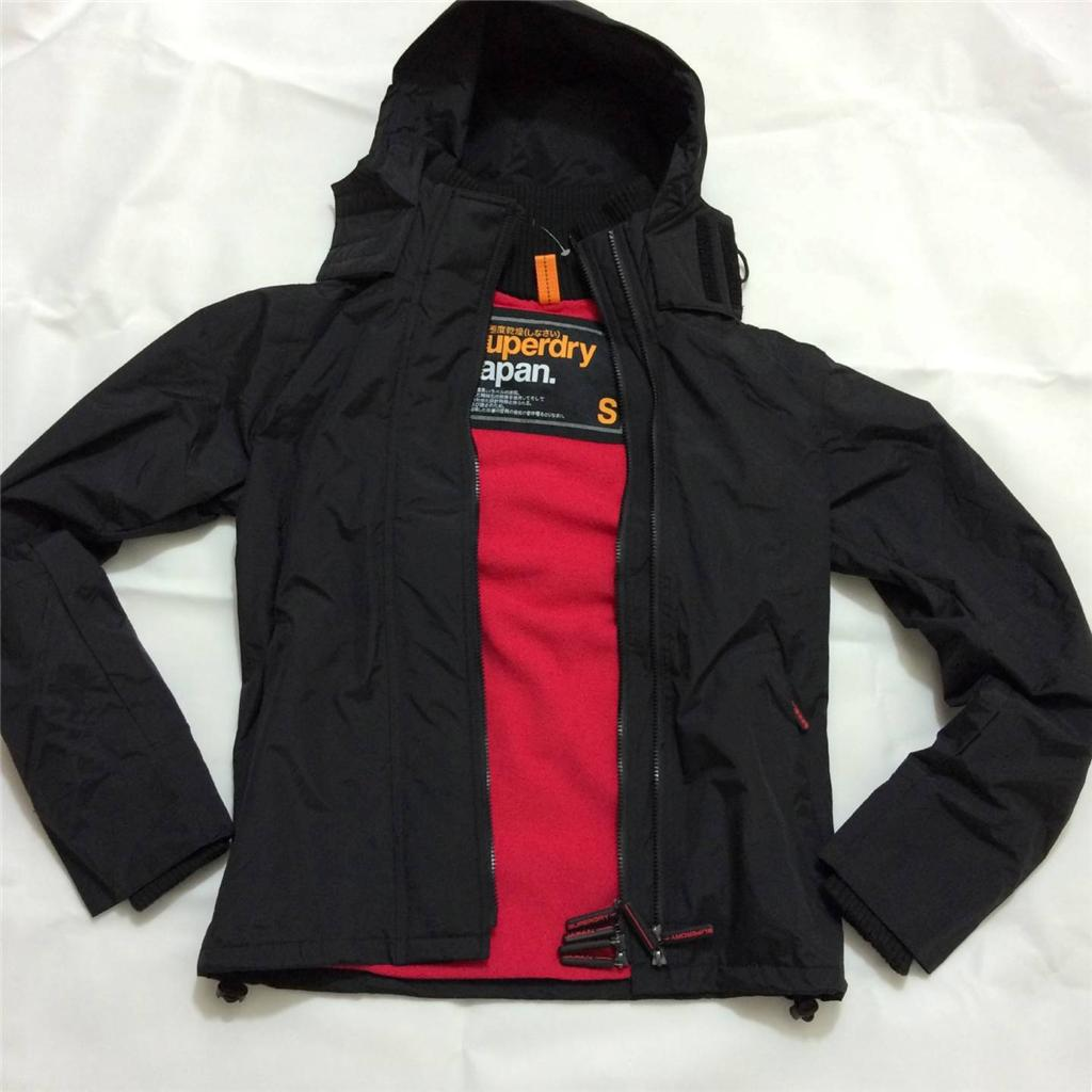 Superdry jacket black and red