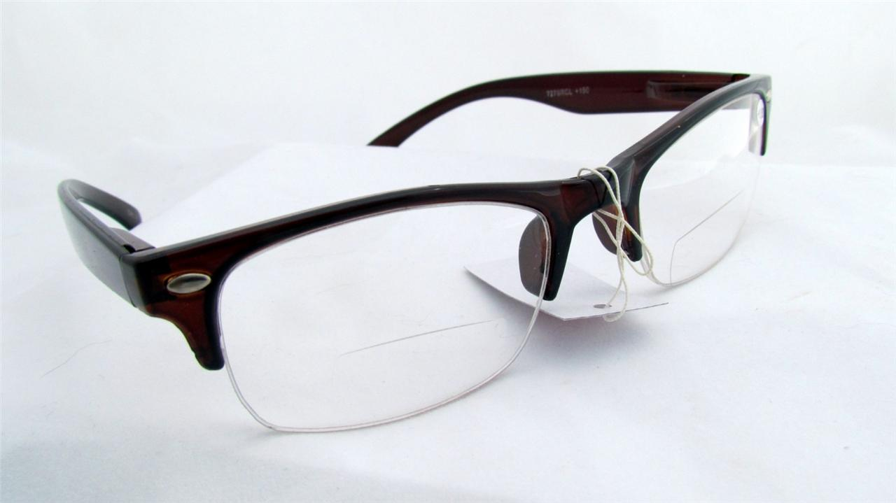 bifocal clear reading glasses semirimless soho quot vp