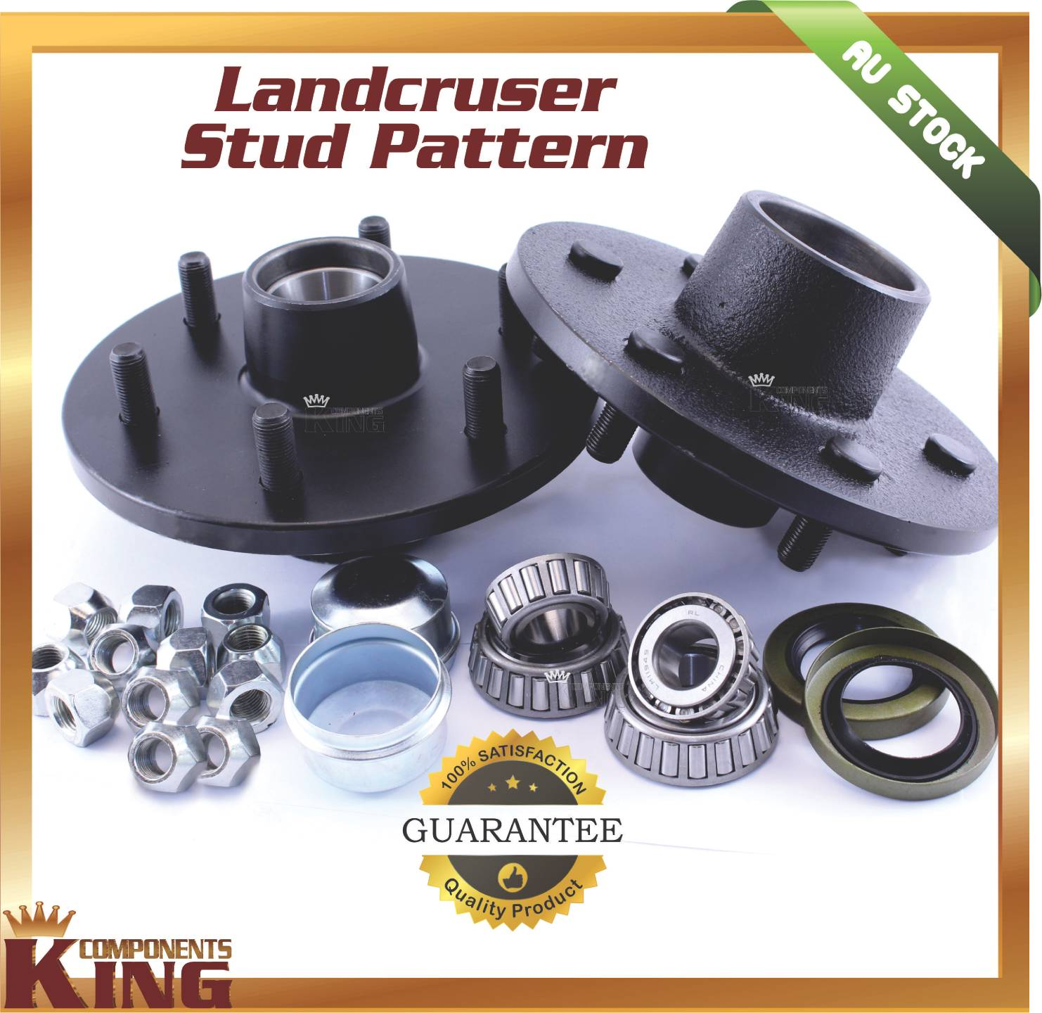 6-Six-Stud-LAND-CRUISER-Trailer-Hubs-with-Holden-Bearings-TRAILER-PARTS