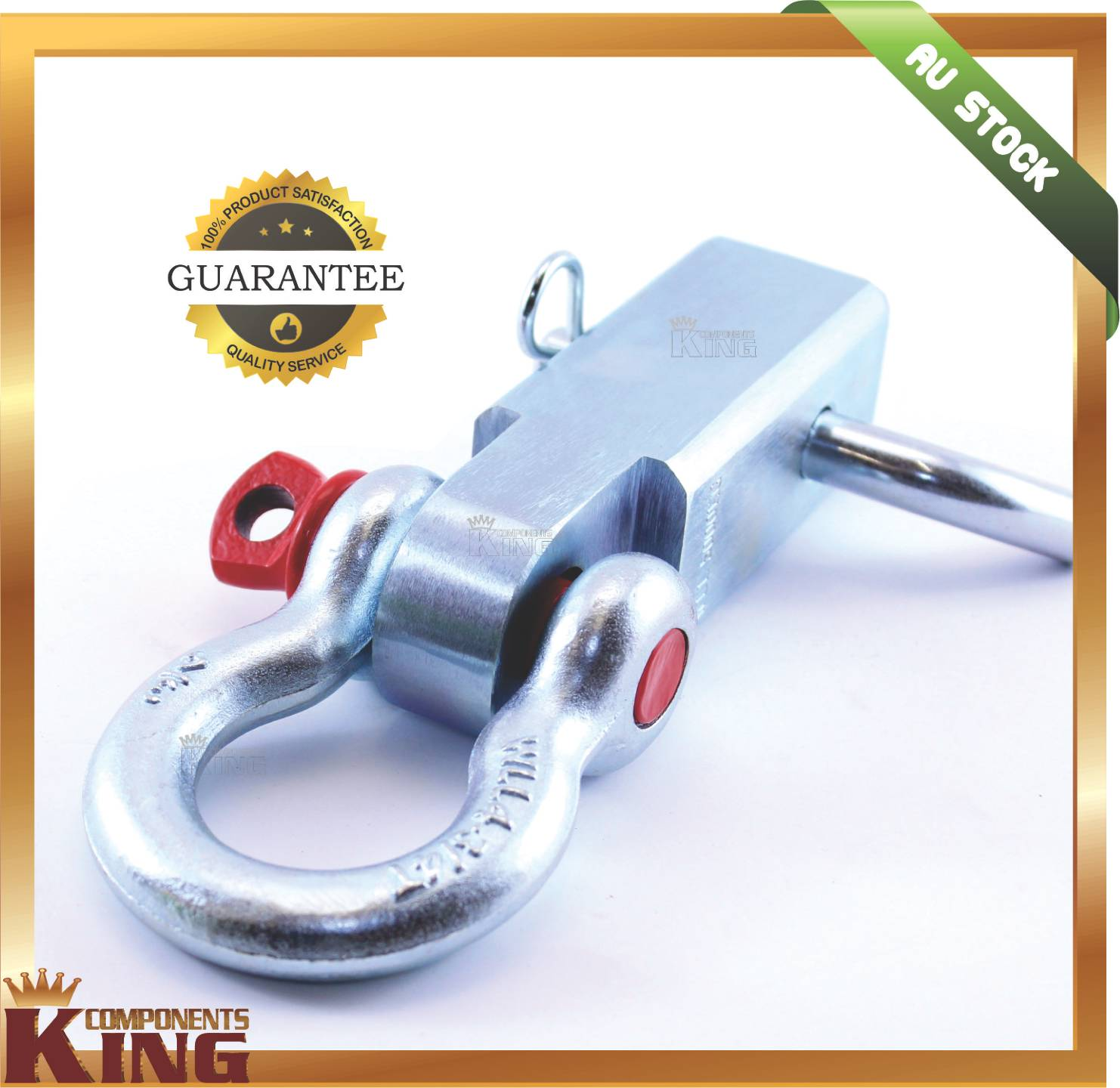 Recovery-Hitch-5-Ton-Rated-with-rated-Bow-Shackle-Tow-Bar-4wd-4X4-Off-Road
