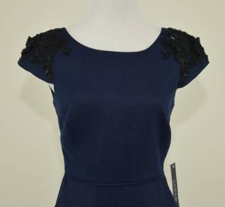 NEW J. CREW COLLECTION BEADED LINEN DRESS