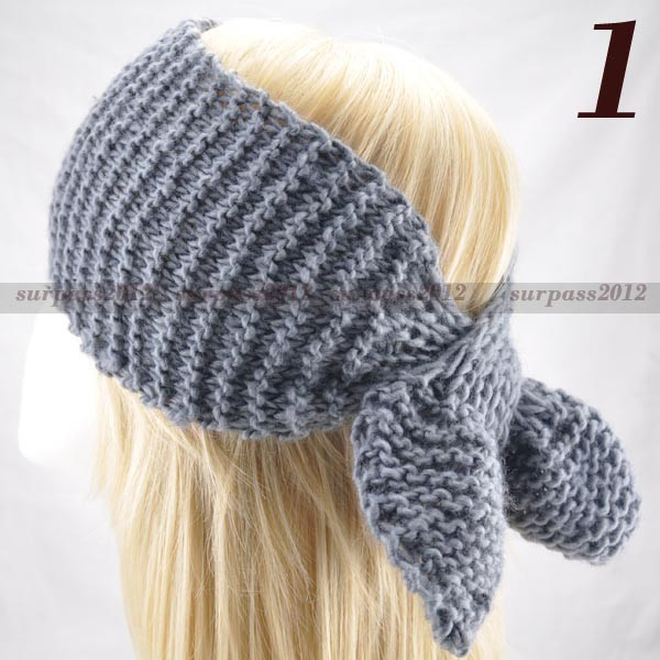 Women Lady Headband Wide Knit Muffler crochet Headwrap ...