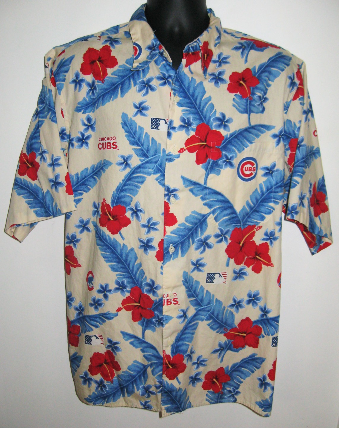mens reyn spooner chicago cubs hawaiian shirt xl camp mlb