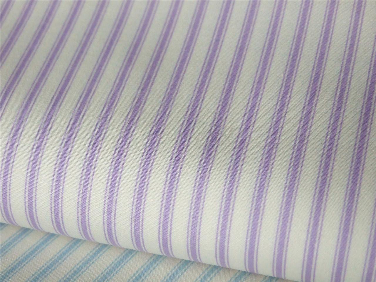 Pastel fine ticking stripe style print 100 cotton fabric for Ticking fabric