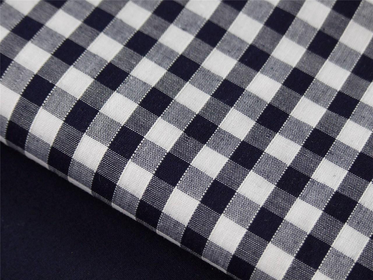 Navy blue white star stripe spot check boys 100 cotton for Boys cotton fabric