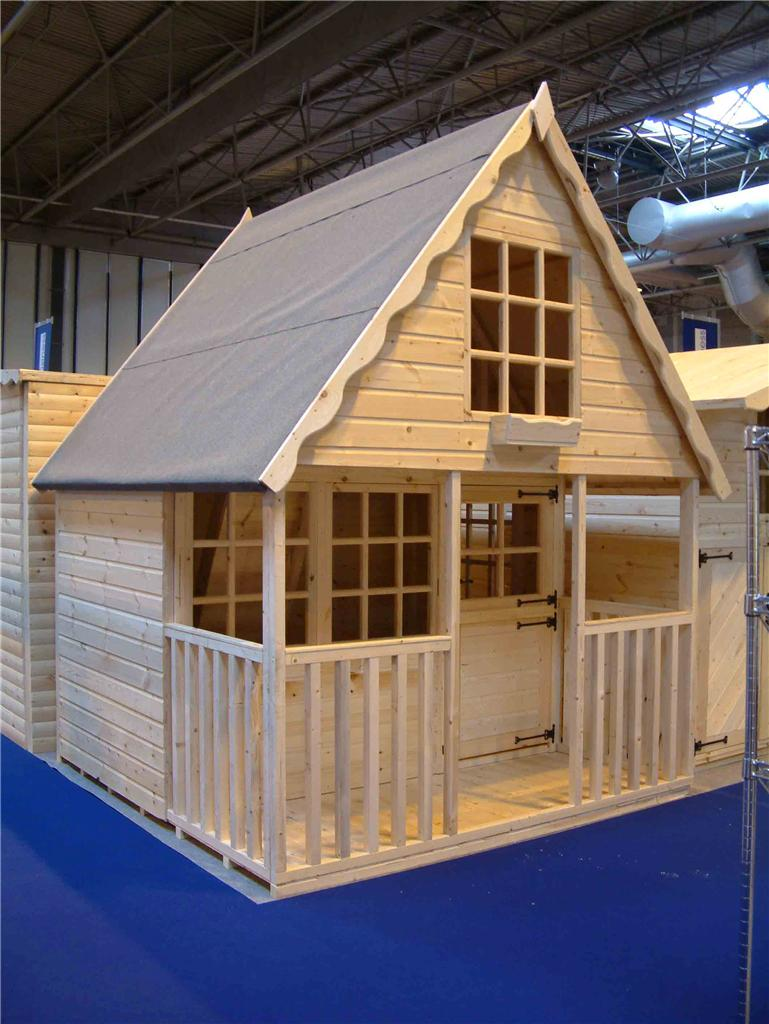 Wooden playhouse play house wendyhouse wendy house 8x8 2 for 8x8 house plans