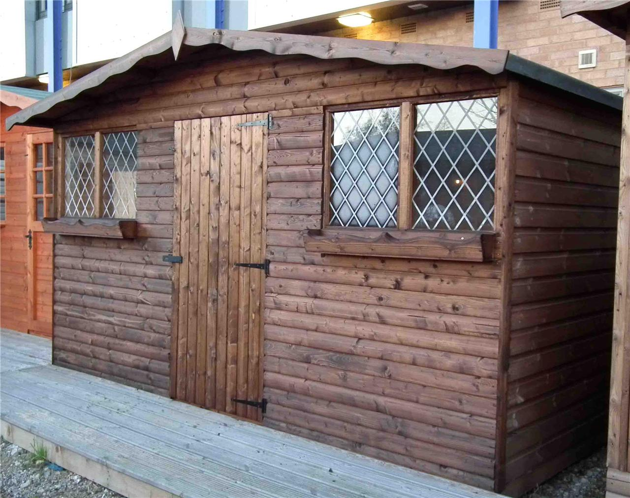 Garden shed wooden shed garden sheds summerhouse ebay for Garden shed tab
