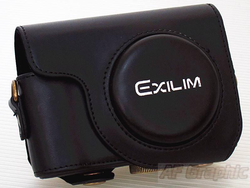 V188-Black-Leather-Case-Bag-Body-Case-for-Casio-EX-ZR1000-EX-ZR1200-Camera-AU