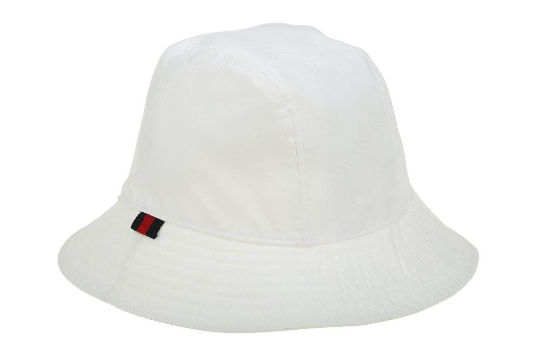 new gucci luxury white gg guccissima web logo fedora bucket hat 59 l ebay. Black Bedroom Furniture Sets. Home Design Ideas