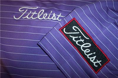 Nwt titleist spf30 footjoy prodry lisle golf shirt large for Footjoy shirts with titleist logo