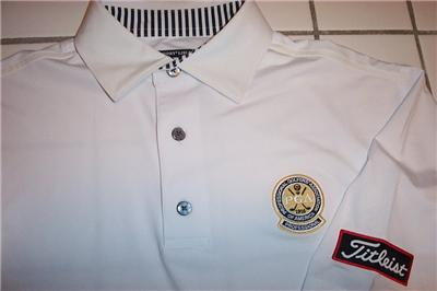 titleist footjoy prodry lisle golf shirt mens small white