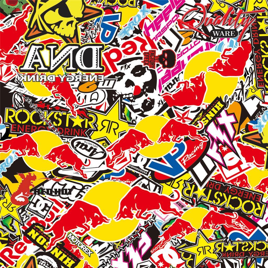 Energy Drinks Stickerbomb Vinyl Air Free Wrap All