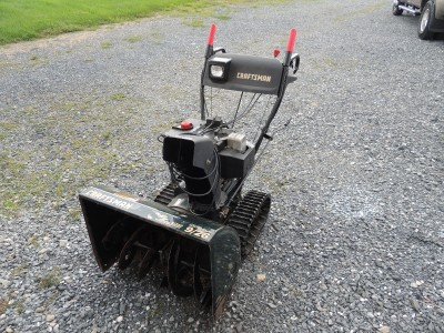 Craftsman 9 26 snow blower electric start ez steer tacked 26 quot path